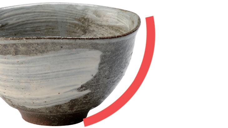 卵かけご飯専用茶碗の特徴であるちょうど良い深さを説明している画像