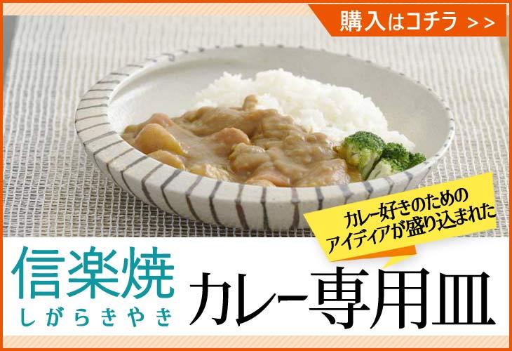 信楽焼カレー専用皿のバナー画像
