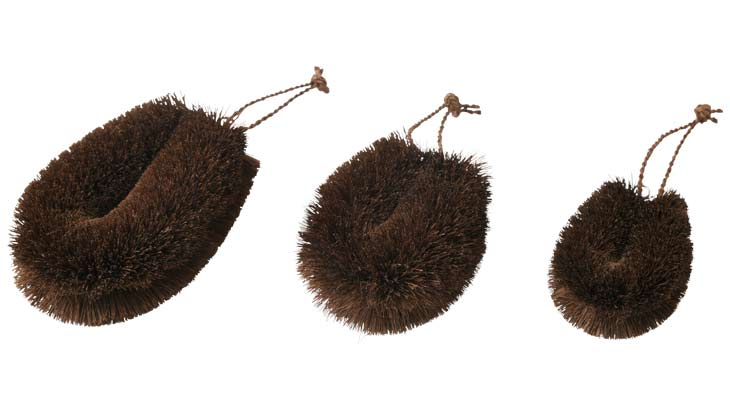 棕櫚束子の大中小サイズ比較の画像