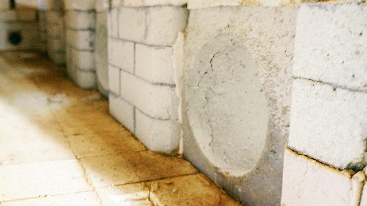 焼き上げに使用する窯の内部