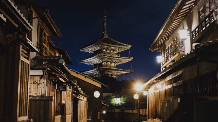 京都の夜景画像