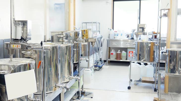 日本の香りシリーズを製造する工場の写真
