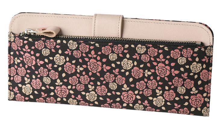 印伝のブランドライン「かぐわ」の薄型財布