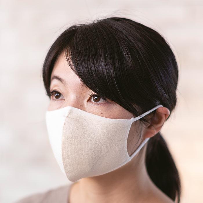 シルクマスク着用イメージ