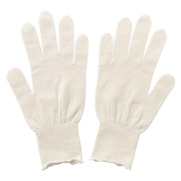 寺田ニットのホールガーメントのシリーズ「KURUMIFACTORY」のシルク手袋ショート