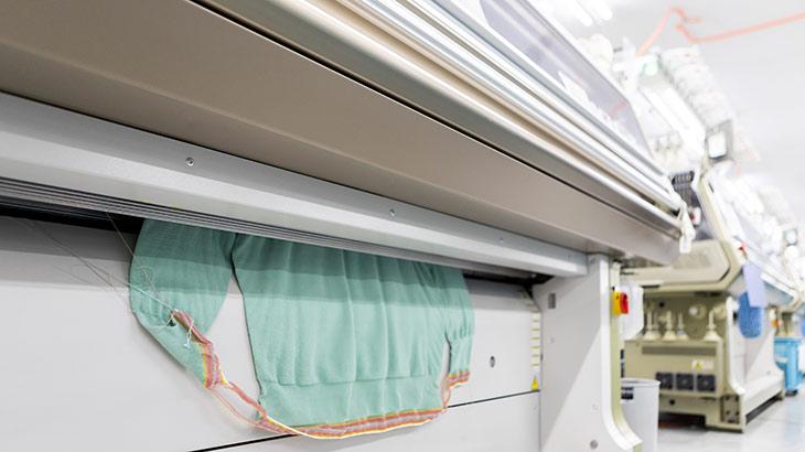 寺田ニットのホールガーメントの製造工程イメージ